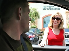 Sex goddess Nina Hartley sucks her sons best friends big hard cock