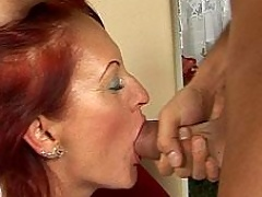 Redhead Any sucking and fucking with young cock