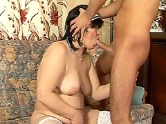 Puffy nurse Rosalia in fucking and sucking scenes