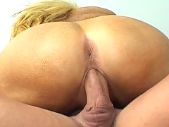 Old pussy rides a thick young cock hard